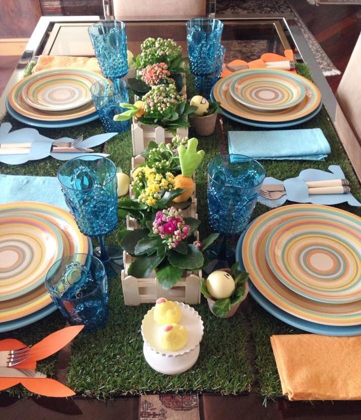 tavola pasqua colorata 4