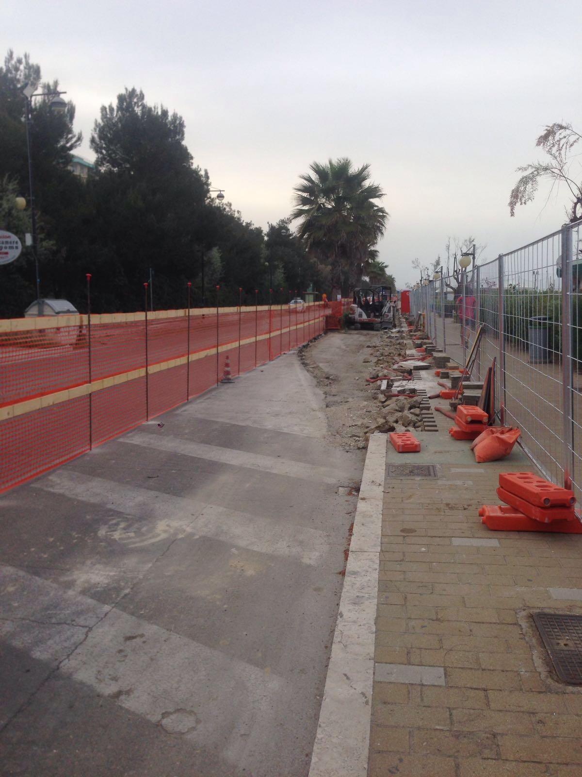 Lavori in corso in prossimità Via Arno
