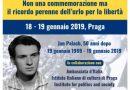 Onore a Jan Palach simbolo dell'amore per la libertà e la dignità dei popoli