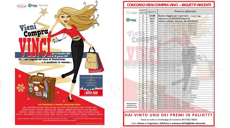 Vieni Compra e Vinci : i biglietti vincenti